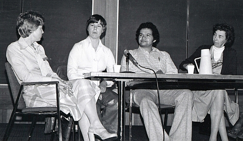 Panel discussion. Wanda Justice far right.